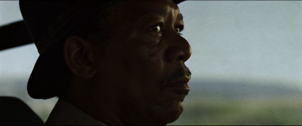 Morgan Freeman in the movie Se7en