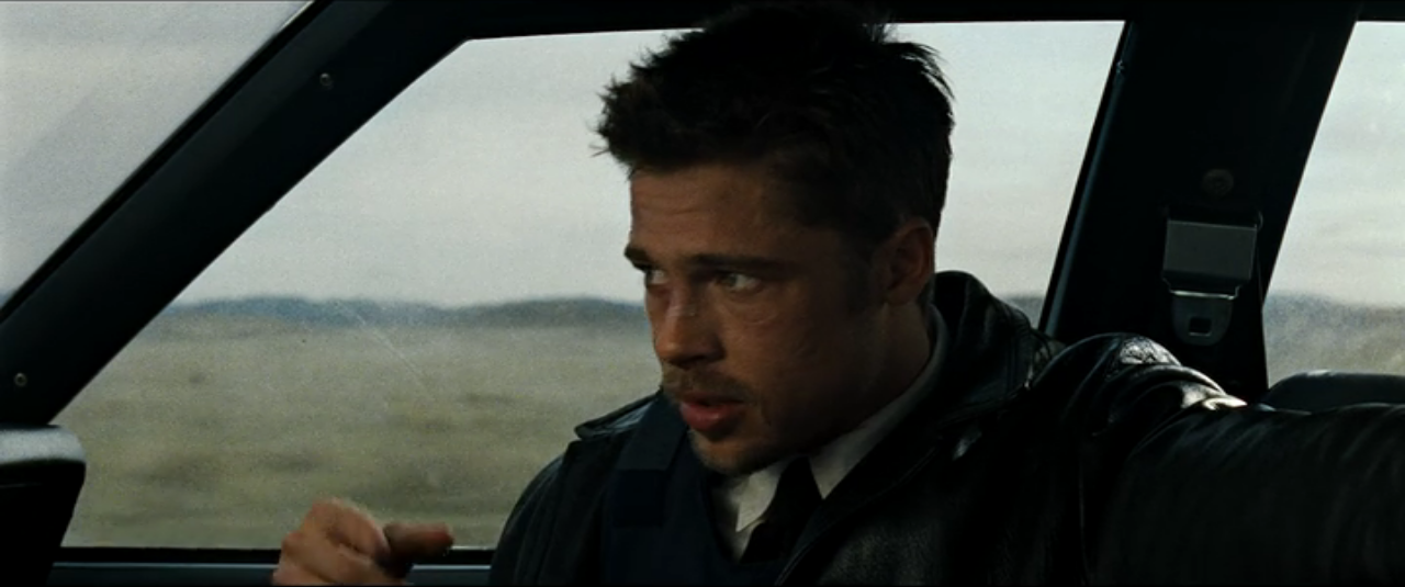 Brad Pitt in the movie Seven